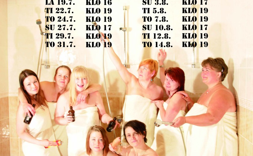 Naisten sauna numeroina