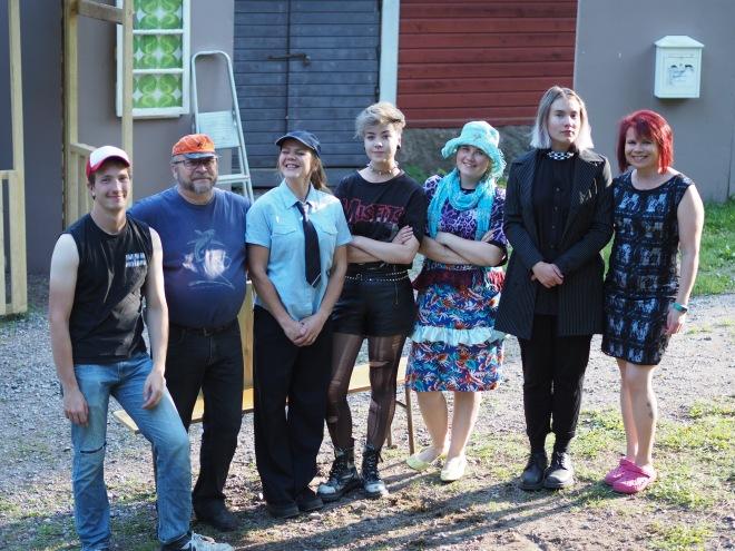 Patrick Hvitsjö, Mauno Nissinen, Karoliina Bergman, Pinja Nurminen, Nea-Sofia Koskela, Sara Snellman ja Taru Leskinen